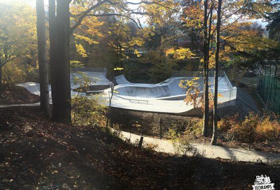 Skatepark for bmx and skateboards