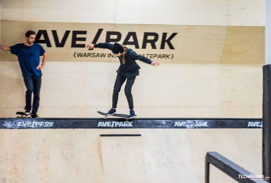 Skateboarding tricks in Warsaw