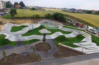 photo du drone skatepark à Świecie