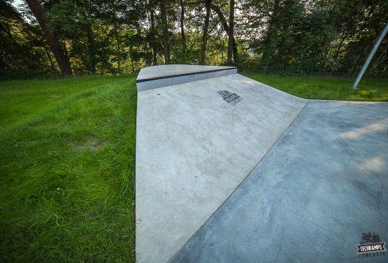 Bankramp con box - concreto