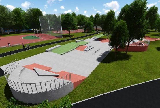 Beton skatepark in Krakau