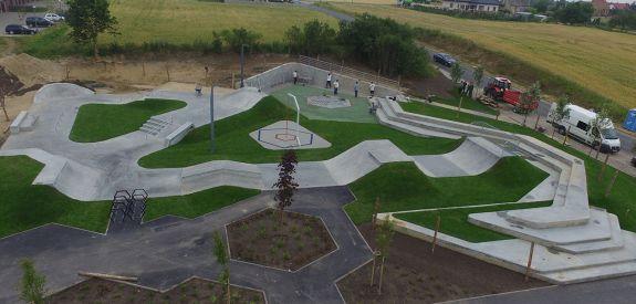 Beton-Skatepark in Świecie (Polen)