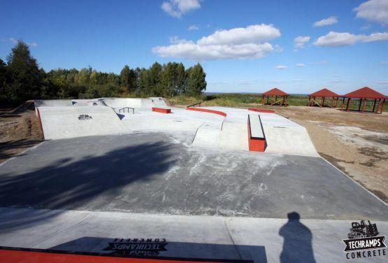 Konkreter Skatepark in Trzebież