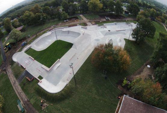 Russland - Skatepark, Blick von der Drohne