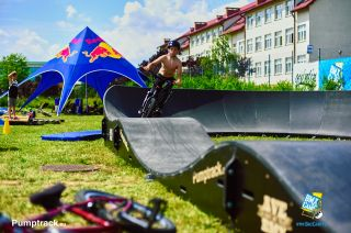 Modular pumptrack on BmxCamp