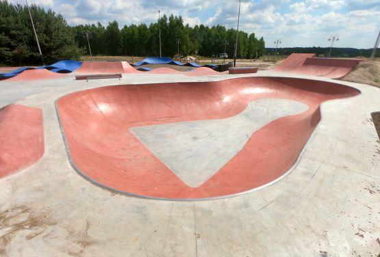 Rojo bowl - skatepark en Sławno