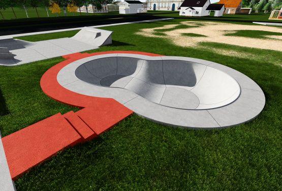 Concrete bowl in Stjordal skatepark