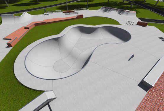Ochota Skatepark - Projekt
