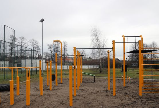Street workout park in Namyslow