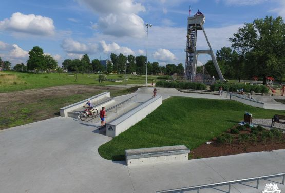 Skatepark für Skateboards / BMX