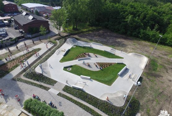 Blick von der Drohne - Chorzów