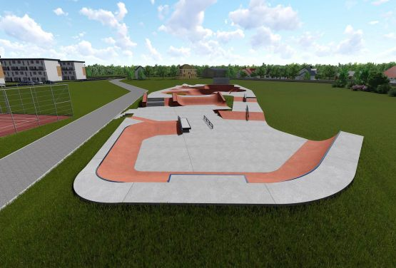 Conception of concrete skatepark in Wejherowo