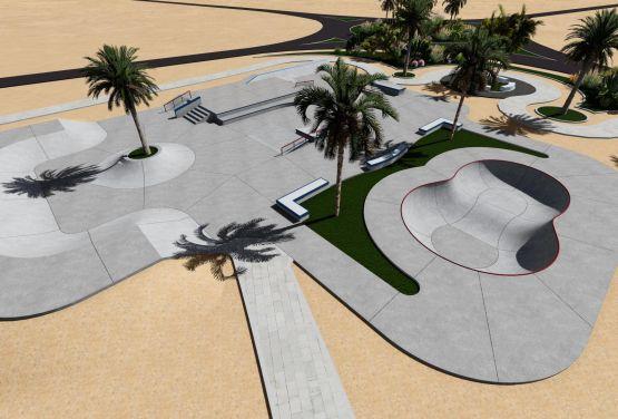 Skatepark à El Gouna - Egypte