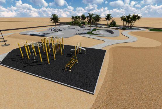 Skatepark and flowpark in Egyptian city El Gouna