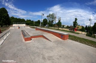 Concrete skatepark from Techramps