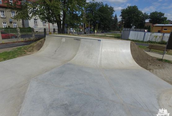 Concrete skate park in Przemyśl
