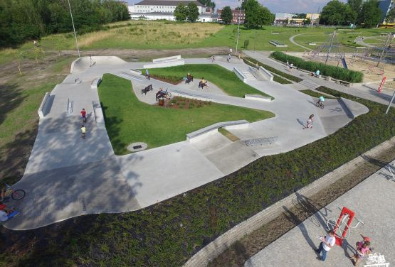 Concrete skatepark in Chorzów