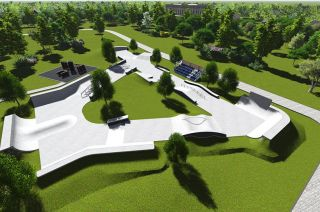 Concrete skatepark - visualisation
