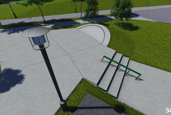 Project of concrete skatepark