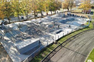 Concrete skateapark in Nakło nad Notecią in Poland
