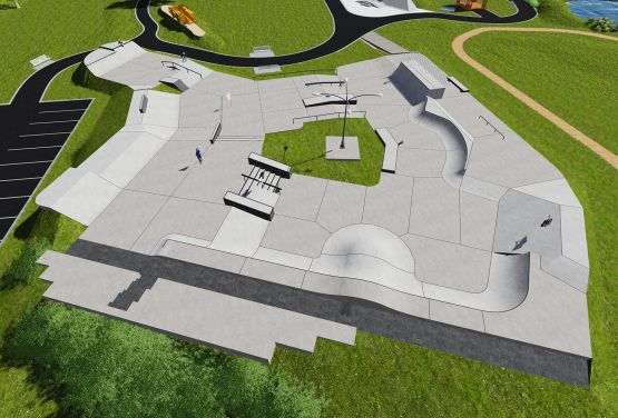 Designe and build skateparks Techramps