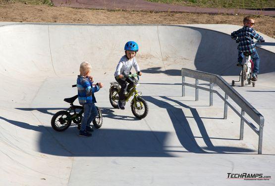 concrete elements of skatepark