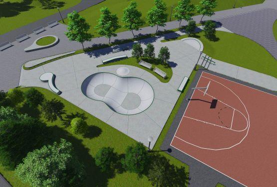 Skatepark en Kalisz - visualización