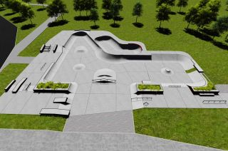 Concreto skatepark en Swarzęd - visualización de skatepark