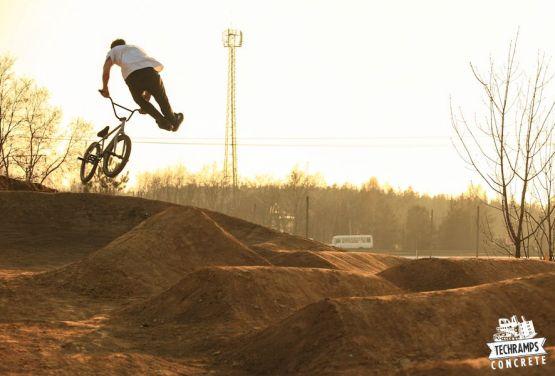 Dirt park in Olkusz in Polen