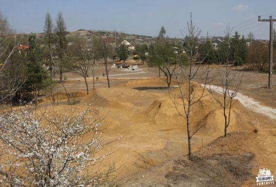 Fahrradweg mit Sand in Olkusz