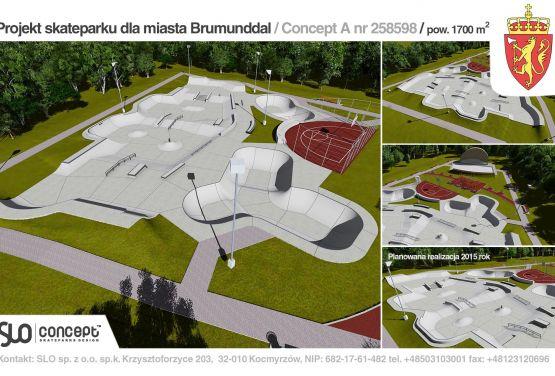 Skatepark en Brumunddal - designe
