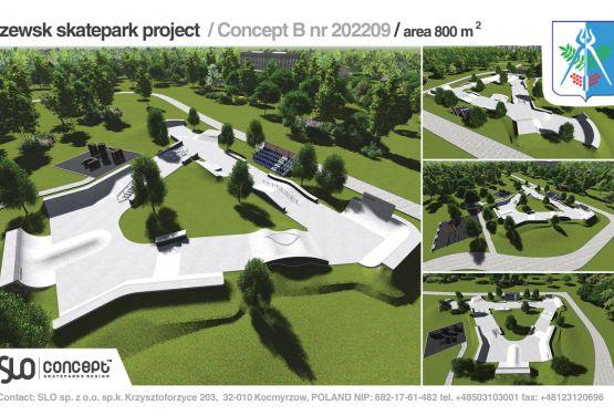 Dokumentacja projektowa betonowego skateparku dla miasta Iżewsk w Rosji