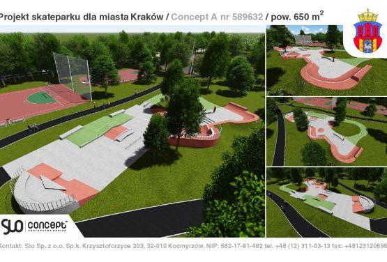 Skatepark w Parku Jordana-dokumentacja projektowa