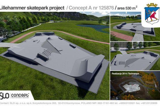 Dokumentacja projektowa skateparku w Lillehammer w Norwegii