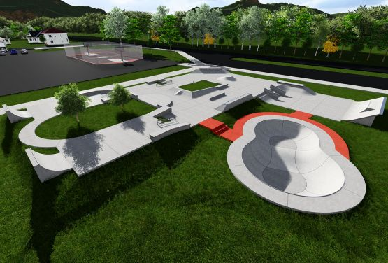 Skatepark w Stjordal - dokumentacja projektowa