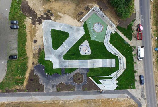 drone view skatepark in Świecie