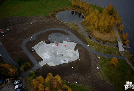 béton skatepark à Lillehammer