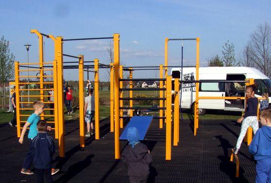 Park do street workoutu w Dobrzniu Wielkim