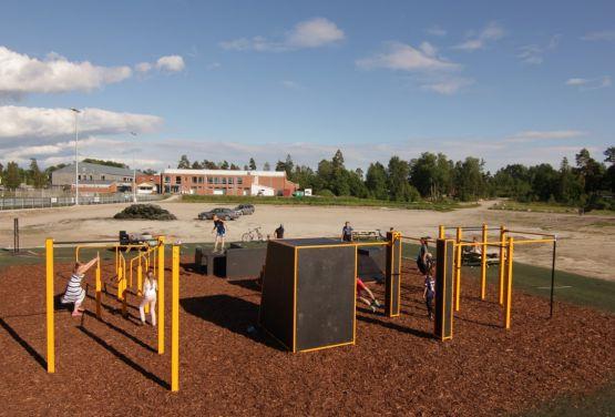 Widok na park w Lervik