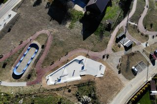 Plan view - skatepark pumptrack miniramp