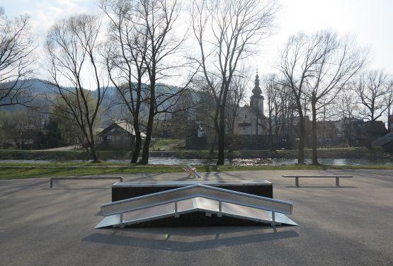 Funbox w skateparku wKrościenku nad Dunajcem
