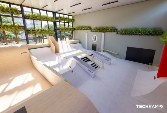 Indoor-Skatepark in Warschau