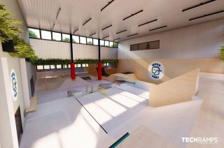 Indoor-Skatepark in Warschau
