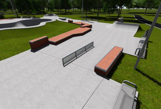 Skatepark in Warschau - Designdokumentation des Projekts