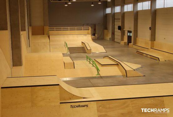 Year-round skatepark Techramps