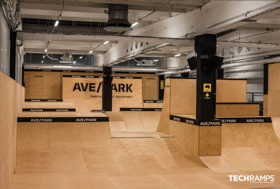 Indoor Skatepark von Techramps
