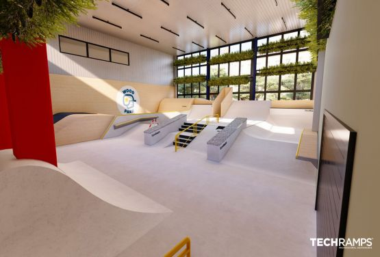 Ganzjähriger Skatepark in Warschau