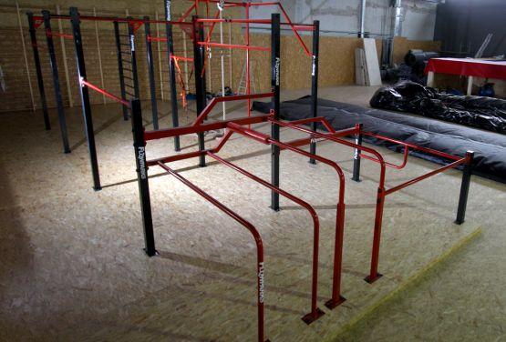 Street workout park in Hangar 646