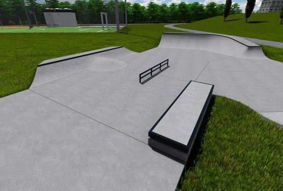 Skatepark w Kalwarii Zebrzydowskiej - dokumentacja projektowa