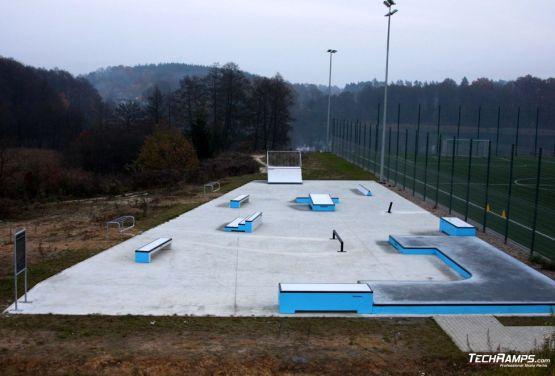 Blick auf den Skatepark Torzym